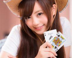カジノで遊ぶ女の子