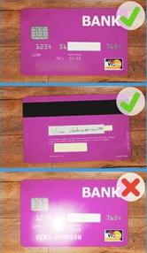 クレジットカードの正しい写し方